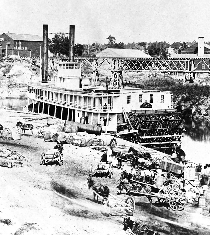 St Clair at Houston Landing c 1867