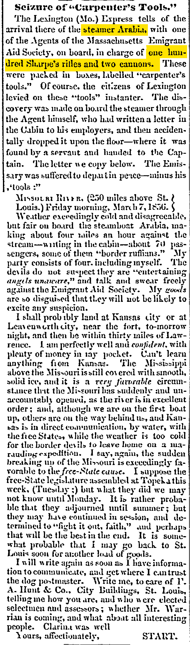Macon Weekly Telegraph 1 April 1856 copy