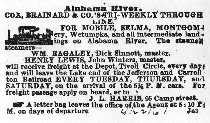 New Orleans Advert 22 Apr 1861