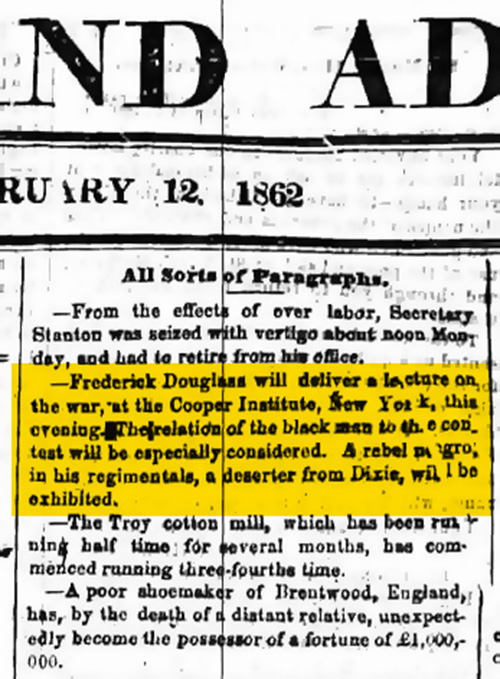 Rochester NY Union & Advertiser 1862 Cropped
