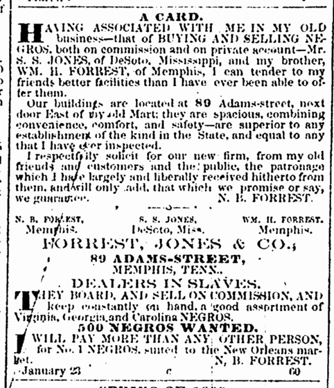 Forrest Charleston Courier 1 Mar 1860 p2